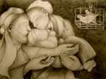 The Word Made Flesh, by  Marcia Carole Gladwish, Original Pencil Drawing